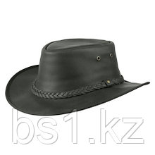 Lone Wolf Leather Hat