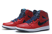 "Кожаные кроссовки Air Jordan 1 Retro ""Metallic Blue/Red"" (40-46), фото 1"