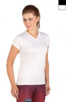 Microtech™ Women's Loose Fit Short Sleeve V-Neck Shirt