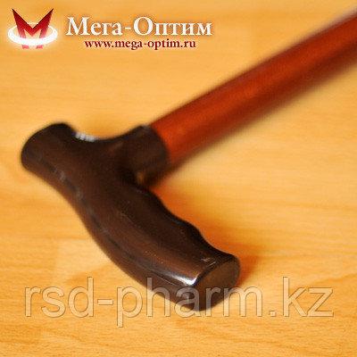 Трость деревянная ИПР-А (80 см) с устройством против скольжения, фото 2