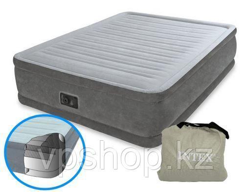 Матрас надувной, надувная кровать высокая Intex 64414 с доставкой