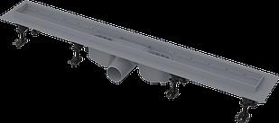 Водоотводящий желоб c порогами для перфорированной решетки или решетки под кладку ALCAPLAST APZ12-TILE-750
