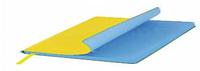 Ежедневник недатированный, Portobello Trend, River side, 145х210, 256 стр, Желтый/Голубой