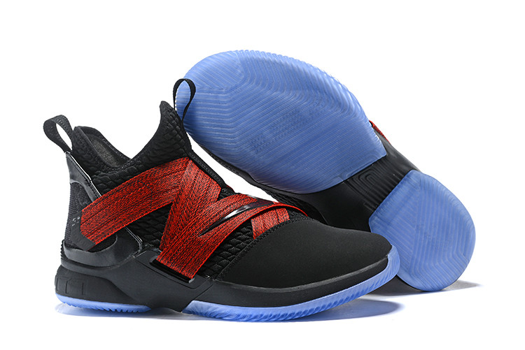 """Кроссовки Nike Lebron Zoom Soldier 12 (XII) """"Black/ Red"""" (40-46)"""