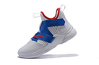 """Кроссовки Nike Lebron Zoom Soldier 12 (XII) """"White/ Blue/ Red"""" (40-46), фото 3"""