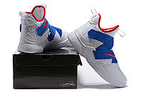 """Кроссовки Nike Lebron Zoom Soldier 12 (XII) """"White/ Blue/ Red"""" (40-46), фото 6"""
