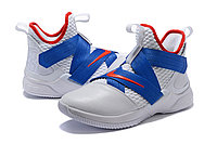 """Кроссовки Nike Lebron Zoom Soldier 12 (XII) """"White/ Blue/ Red"""" (40-46), фото 2"""