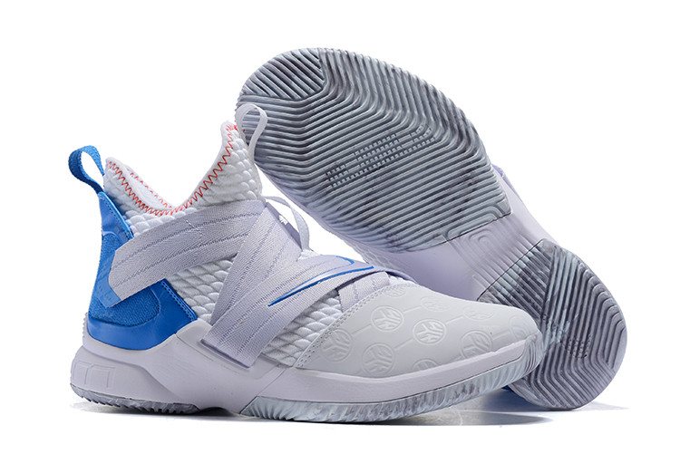 """Кроссовки Nike Lebron Zoom Soldier 12 (XII) """"White/ Blue"""" (40-46)"""