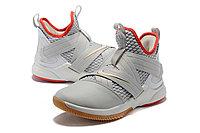 "Кроссовки Nike Lebron Zoom Soldier 12 (XII) ""Grey/ Red/ Gold"" (40-46), фото 2"