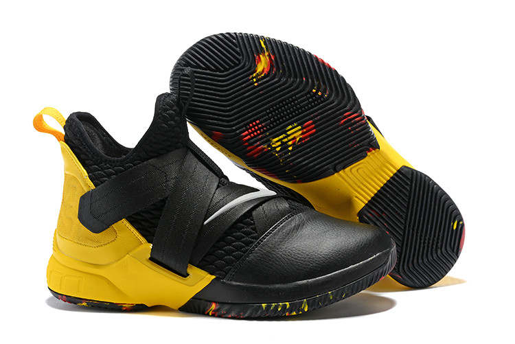 "Кроссовки Nike Lebron Zoom Soldier 12 (XII) ""Yellow/ Black"" (40-46)"