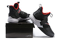 "Кроссовки Nike Lebron Zoom Soldier 12 (XII) ""Black/ White/ Red"" (40-46), фото 6"