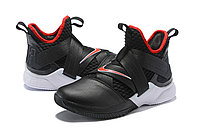 "Кроссовки Nike Lebron Zoom Soldier 12 (XII) ""Black/ White/ Red"" (40-46), фото 2"