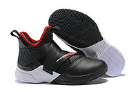"Кроссовки Nike Lebron Zoom Soldier 12 (XII) ""Black/ White/ Red"" (40-46)"