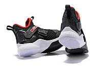 "Кроссовки Nike Lebron Zoom Soldier 12 (XII) ""Black/ White/ Red"" (40-46), фото 5"