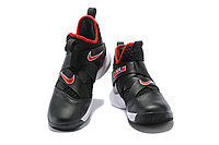 "Кроссовки Nike Lebron Zoom Soldier 12 (XII) ""Black/ White/ Red"" (40-46), фото 3"