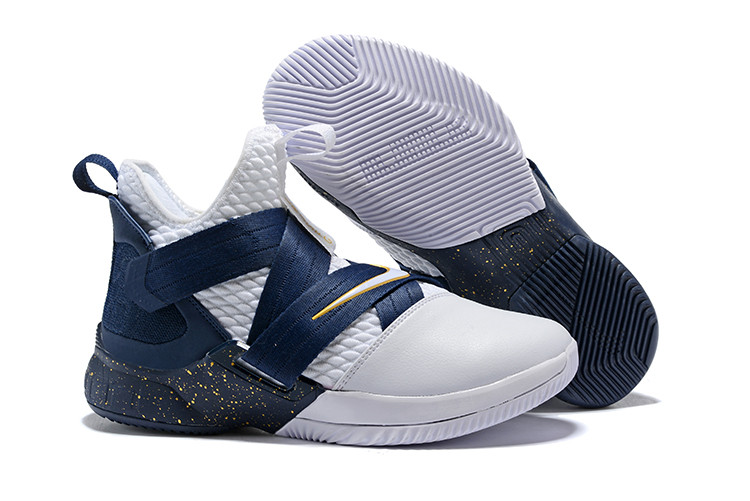 "Кроссовки Nike Lebron Zoom Soldier 12 (XII) ""Navy Blue/ White"" (40-46)"