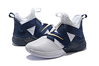 "Кроссовки Nike Lebron Zoom Soldier 12 (XII) ""Navy Blue/ White"" (40-46), фото 2"