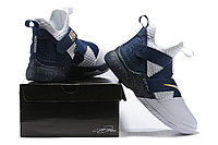 "Кроссовки Nike Lebron Zoom Soldier 12 (XII) ""Navy Blue/ White"" (40-46), фото 6"