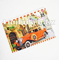 Альбом для рисования 3D красный автомобиль 24 листа Yalong 811-24-70A