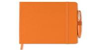 Блокнот A5 с Обложкой из Картона, Оранжевый