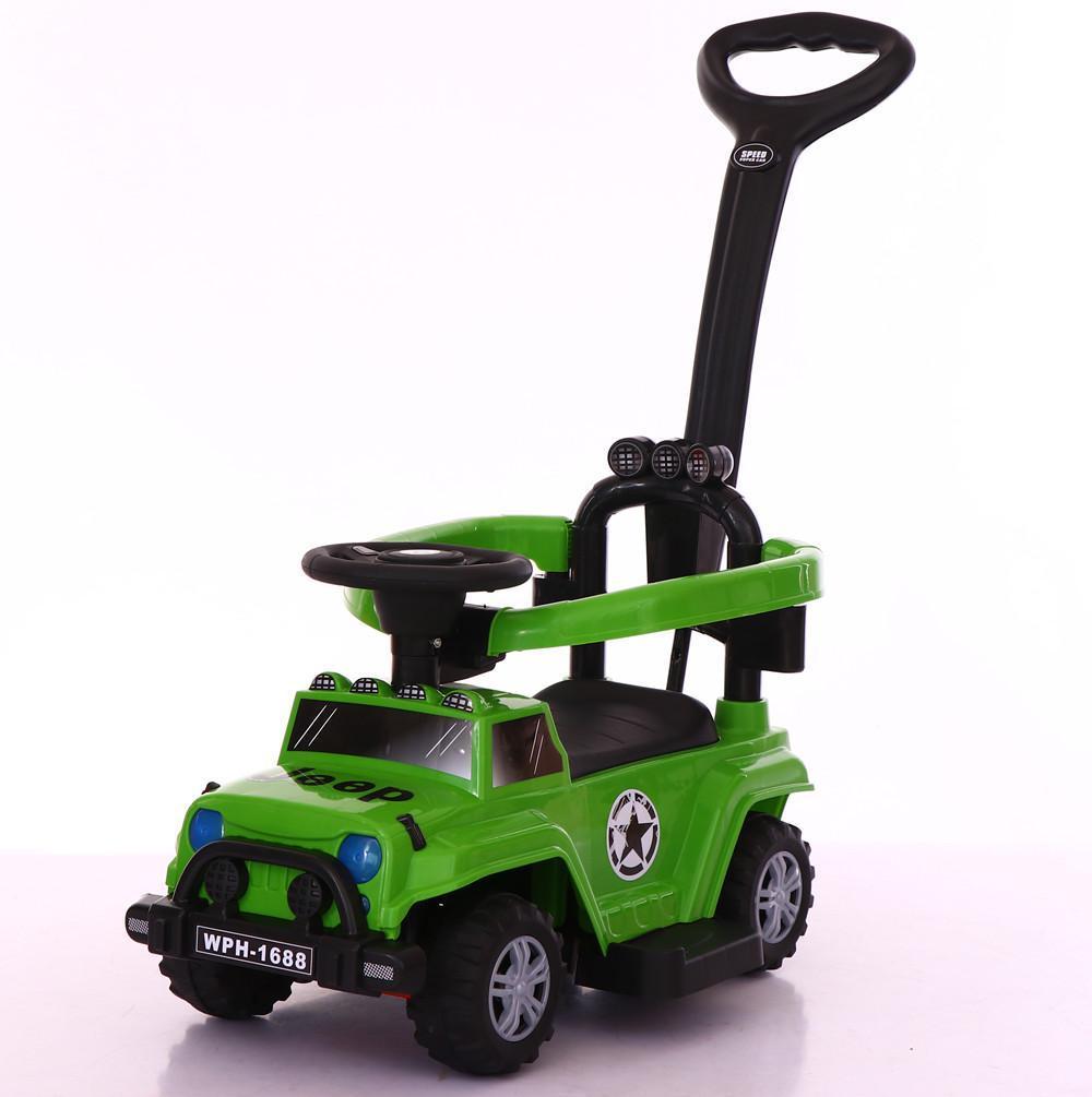 Толокар-каталка Jeep Wrangler WPH1688 3 в 1, хаки