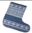 Носок для Подарков «Скандик», Синий/Индиго