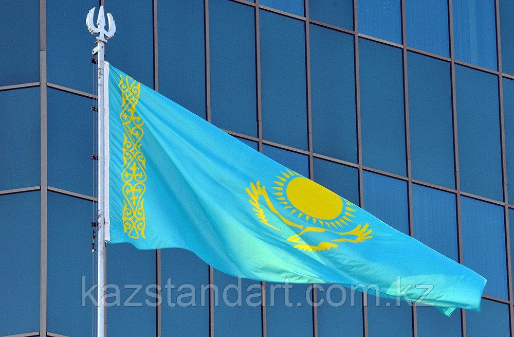 Флаг РК 1*2 м (Полиэстр, уличный)