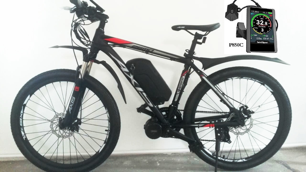 """48v 750w (max 1300w) BAFANG 8FUN BBS02, аккум. Li-ion 48v 17 A/H. Электровел. AXIS 26 MD 21sp. Рама 19""""."""