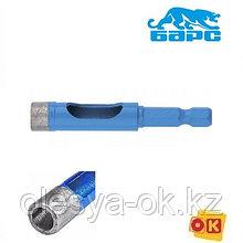 Сверло алмазное по керамограниту, 6 х 35 мм, 6-гранный хвостовик // БАРС