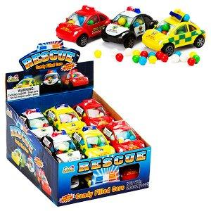 Кидсмания Rescue Candy Filled Cars Машинки 12 гр