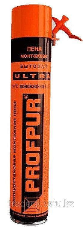 Пена монтажная всесезонная Profpur Ultra бытовая 45л 750мл