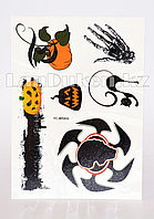 Временное тату Temporary face tattoo YC-WS002 Хэллоуин (Halloween) 15х25 см цветной