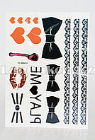 Временное тату Temporary face tattoo YC-WS012 Хэллоуин (Halloween) 15х25 см цветной