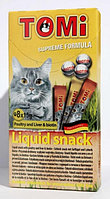 «TOMI» лакомство-соус для кошек упаковка 8шт*15гр. домашняя птица + биотин