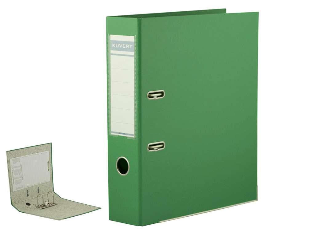 Папка-регистратор KUVERT А4, ширина корешка 72 мм, зеленая