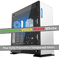 Корпус Gamemax M909 Vega White Tempered Glass, фото 1