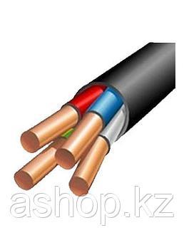 Кабель силовой АВВГ 4х2,5, Жила: Монолитный, Кол-во жил: 4, Материал жилы: Алюминий, Тип изоляции: ПВХ пластик