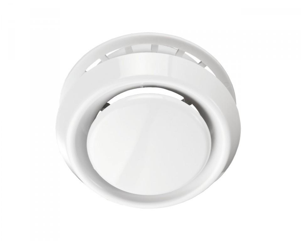 Анемостаты белые вытяжные вентиляционные ABS А125ВРФ