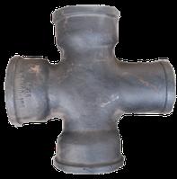 Крестовина чугунная канализационная 90*100*150