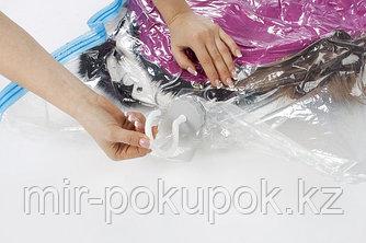 Вакуумный пакет для одежды на вешалке, 90*60 см, Алматы