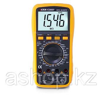Мультиметр цифровой VICTOR VC9808+, Измерение: , U+, U~, I+, I~, R, C, t°, T, L, PN переход, Прозвонка