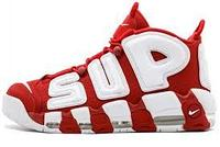 Classic Nike Air More Uptempo Supreme Red/White 36р