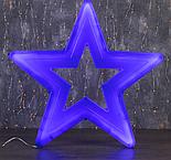 "Фигура уличная ""Звезда синяя"", 56х56х4 см, пластик, 220 В, 3 метра провод, фиксинг, СИНИЙ , фото 2"