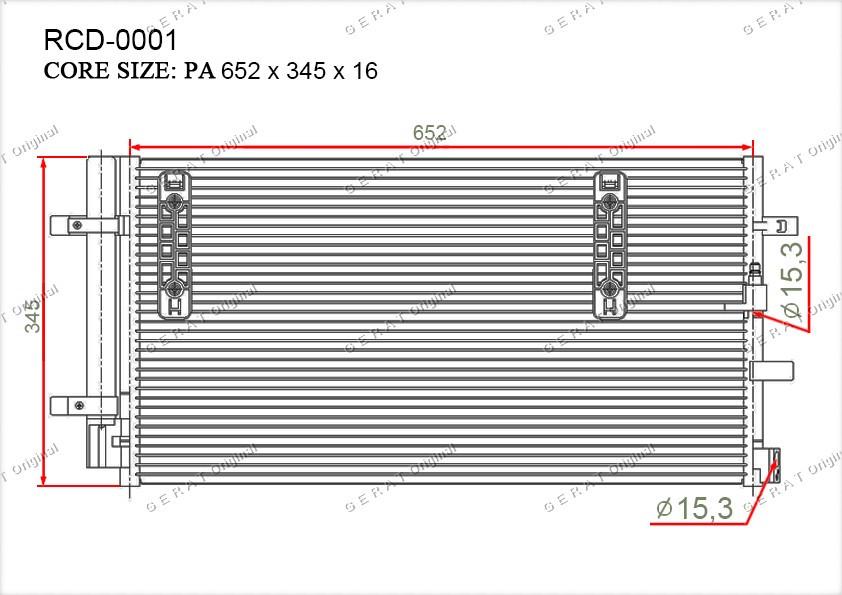 Радиатор кондиционера Gerat OEM4G0260403B