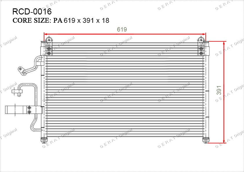 Радиатор кондиционера Gerat OEM96207354