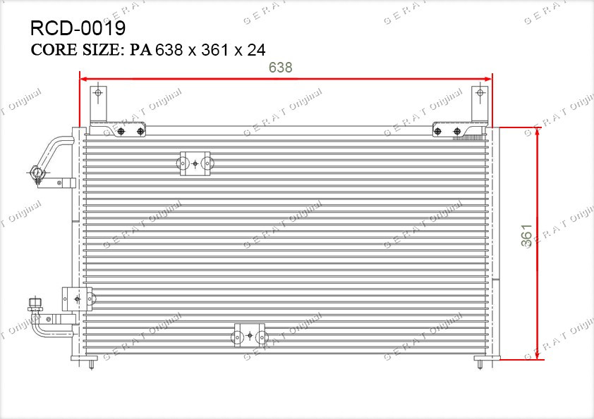 Радиатор кондиционера Gerat OEM96164823
