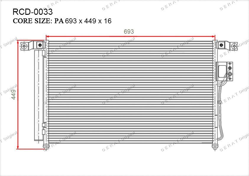 Радиатор кондиционера Gerat OEM976062B200