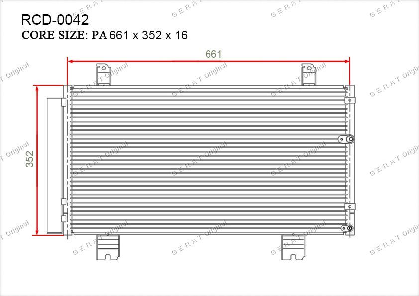 Радиатор кондиционера Gerat OEM8846053030