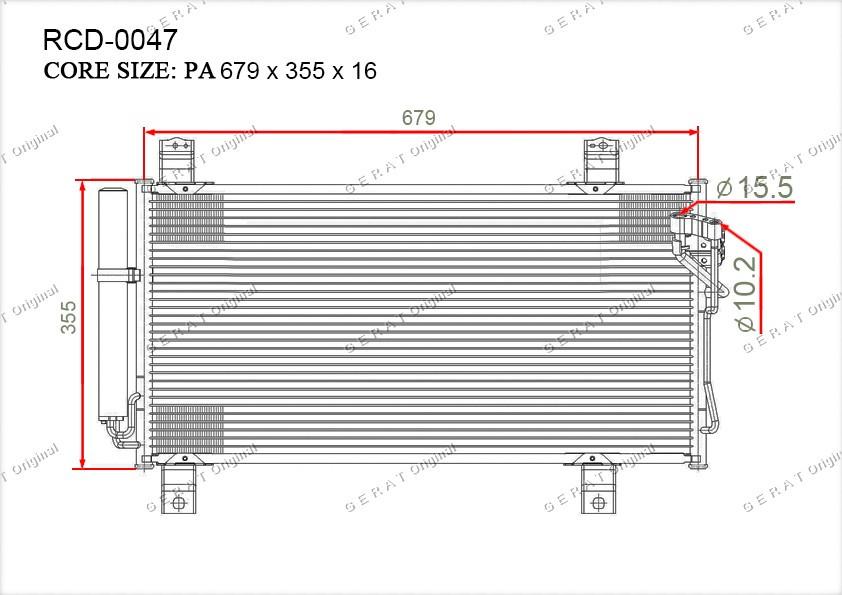 Радиатор кондиционера Gerat OEMGSYD6148ZA