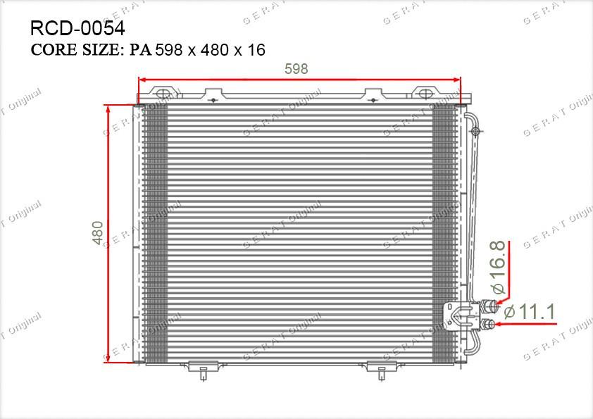 Радиатор кондиционера Gerat OEM2108300270